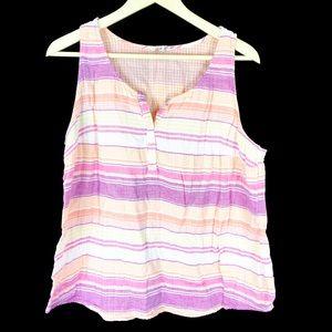 (Q-29) Sonoma Womens Sleeveless Top XL
